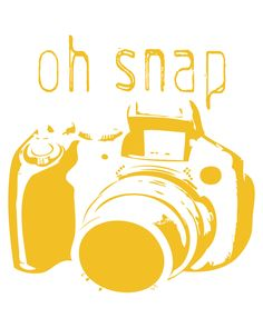Oh Snap-Camera Print-8x10-5 Color Options-Custom Colors Available. $12.00, via Etsy.