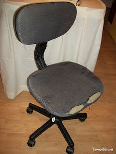 old office chair.  Old How To Recover An Old Office Chair  Have A Few Of Those Kicking Around Throughout O