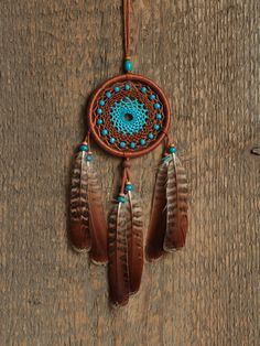 Car dream catcher / Small dream catcher / Brown by MyHappyDreams