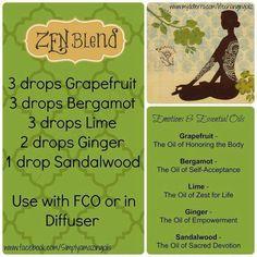Diffuser Blend, essential oil, grapefruit, bergamot, lime, ginger, sandalwood
