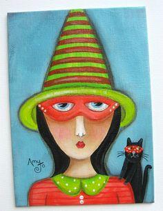 Original folk art paintings @AmyJo Hill