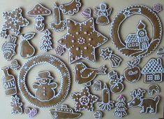 Perníčky 2009 Gingerbread Cookies, Christmas Cookies, Gingerbread Houses, Christmas Ideas, Candy Decorations, Cake Cookies, Cookie Cutters, Decorating Cakes, Baking