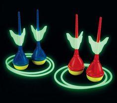 Glow in the dark lawn darts