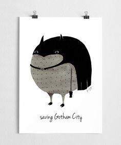 Art print batman poster