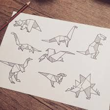 Image result for tyrannosaurus rex geometric doodle