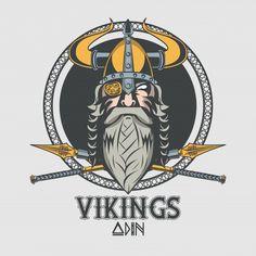 Drawing of a viking ship with the sign of god odin Viking Warrior, Viking Helmet, Vikings Ragnar, Ragnar Lothbrok, Viking Images, Medieval Drawings, Medieval Art, Military Tattoos, Viking Tattoos
