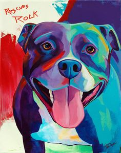 Hey, I found this really awesome Etsy listing at https://www.etsy.com/listing/159791328/pitbull-rescues-rock-original-pitbull