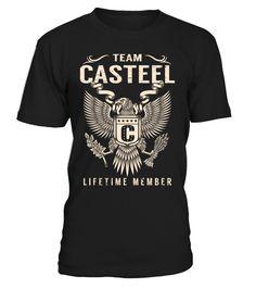 Team CASTEEL Lifetime Member Last Name T-Shirt #TeamCasteel