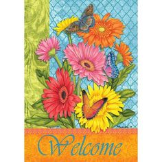 Delightful Daisies Double Sided Flag