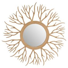 Featuring a branch-inspired design for organic appeal, this delightful wall mirror makes a striking focal point for the entryway or powder room.
