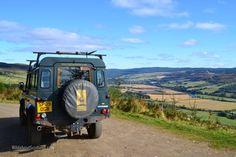 On a Highland Safari looking down over the River Tay valley