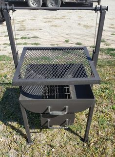 Visit the post for more. Bbq Pit Smoker, Fire Pit Grill, Diy Fire Pit, Diy Grill, Barbecue Grill, Grilling, Custom Bbq Smokers, Custom Bbq Pits, Parrilla Exterior