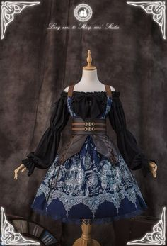 The Great Voyage Pirate Lolita Steampunk Lolita Corset Pretty Outfits, Pretty Dresses, Beautiful Outfits, Cool Outfits, Scene Outfits, Kawaii Fashion, Lolita Fashion, Cute Fashion, Rock Fashion