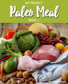 My Perfect Paleo Meal Plan Week 1