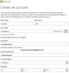 Buat Akun Microsoft  Cara Membuat Akun Hotmail / Outlook