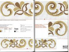 Risultati immagini per pinterest schemi cornicette punto croce