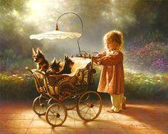 Yorkshire Terrier Painting - I Love New Yorkies by Greg Olsen Yorkies, Greg Olsen Art, Arte Lds, Bev Doolittle, Lds Art, Art Vintage, Tier Fotos, Paintings I Love, Oeuvre D'art