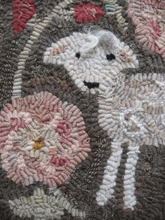 Hollyhock by Marijo Taylor - Pattern Only or Complete Rug Hooking Kit