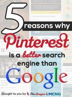 6 motivi Pinterests motore di ricerca � meglio di Googles - stimolante . migliorare posizionamento google