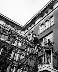 Fred Stein, Girl on Gate, New York, 1946