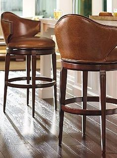Black Leather Bar Stool With Back  Walnut Wood  Article Sede Adorable Counter Stools For Kitchen Decorating Design