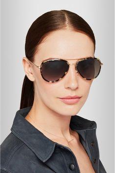 Gucci | Aviator-style acetate and metal sunglasses | NET-A-PORTER.COM