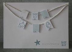Stampin Up | CreatiefDuo | Itty bitty Baby baby kaart jongen met stempels van stampin up
