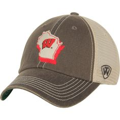 newest collection ed840 54116 Wisconsin Badgers Top of the World United Trucker Adjustable Snapback Hat -  Charcoal, Your Price   22.99