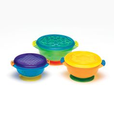 Munchkin 3 Pack Stay-Put Suction Bowls