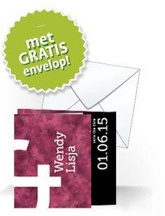 Chique #trouwkaart met GRATIS envelop