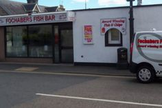 "(PHOTO: Facebook) The National Fish and Chip Awards have revealed the three finalists for the National Federation of Fish Friers (or NFFF or short) Quality Award ""Champion"" Award.  Fochabers Fish Bar in Fochabers, Morayshire, Scotland"