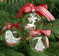 NEW!!!  Swirly Christmas Ornaments!  $8 ea.  Find me on Facebook, Petal Pushers, Greenville, SC.