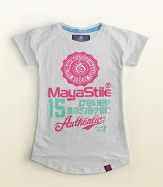 Women's Mayastile Authentic logo T-shirt, Mexican apparel, Colors white, cool fashion girls, 100% Cotton. Playera Mujer Mayastile logotipo auténtico, ropa mexicana, color blanco, 100% Algodón. #TEE #TSHIRT #Graphictee #hechoenmexico #Casual #fashion