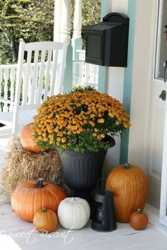 Front Porch Decorating Ideas For Fall Sweet Biscuit 682x1024 Must See Fall Front Porch Decorating Ideas