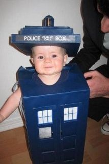 Funny and Nerdy Baby Halloween Costume - The Tardis from Doctor Who
