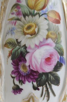 Pair Finely Hand-Painted Porcelain : Lot 708