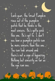 It's the Great Pumpkin, Charlie Brown #free #fall #printable