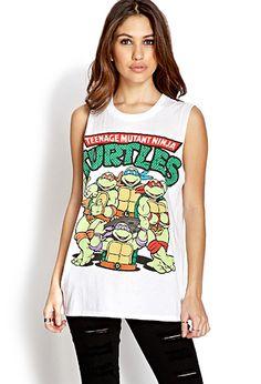 #F21Crush Ninja Turtles Muscle Tee | FOREVER21 - 2000127427