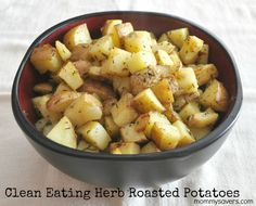 Herb Roasted Potatoes (Clean Eating) #cleaneating