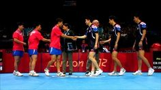 via BBC: South Korea defeated their neighbors to the north in table tennis at the 2012 games. Despite their contentious diplomatic relationship, despite the threat of war, and despite their well-earned contempt for each other, the team's shook hands following the match. Sportsmanship carried the day.