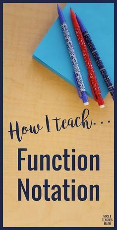 Teaching function notation in math can be tricky! I have my students add this to their interactive notebook notes. Algebra students in special education will love this lesson.