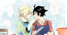 Owari no seraph yuu and mika >_<