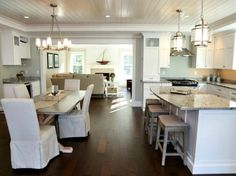 Love the ceiling! And the open concept!