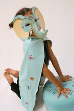 Zid Zid Moroccan elephant mask + cape: so creative!