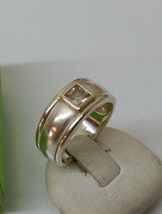 Vintage Ringe - Ring 925er Silber viereckiger Kristallstein SR695 - ein Designerstück von Atelier-Regina bei DaWanda