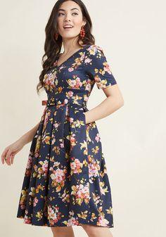 Elegant Instance Fit and Flare Dress