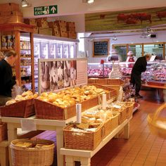 gourmet shop with great basket displays