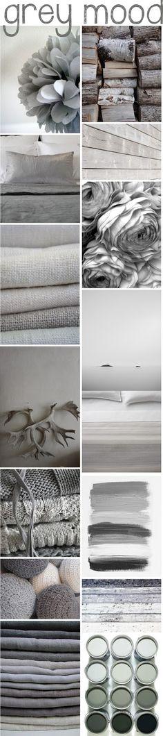 Grey Mood, See more inspirations at http://www.brabbu.com/en/inspiration-and-ideas/ #MoodBoardIdeas #MoodBoardDesign #MoodBoardFashion