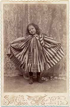 Baby Sutton in a Flag Dress: This era cabinet card by Swords Brothers of York, PA is marked Baby Sutton on the negative. The little girl wears a dress that appears to be made from actual. Antique Photos, Vintage Pictures, Old Pictures, Vintage Images, Old Photos, Nostalgic Pictures, Time Pictures, Photographs Of People, Vintage Photographs