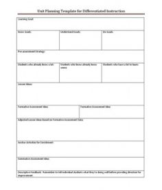 Lesson planning template with places to write meaningful teaching ...